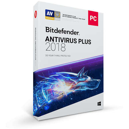 BitDefender Antivirus Plus 2018 1 an 1 PC New License Retail Box