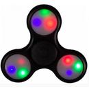 Jucarie antistres OEM Fidget Spinner Plastic cu LED Black