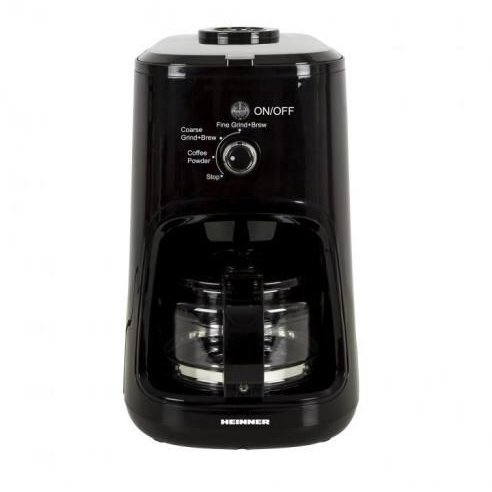 Cafetiera cu rasnita HCM-900RBK 900W 0.6 Litri Negru thumbnail