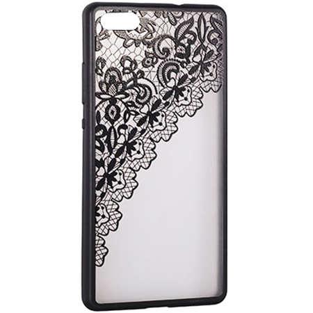 Husa Protectie Spate Star TOPLACE_IP7BK Lace Design 2 Negru pentru Apple iPhone 7