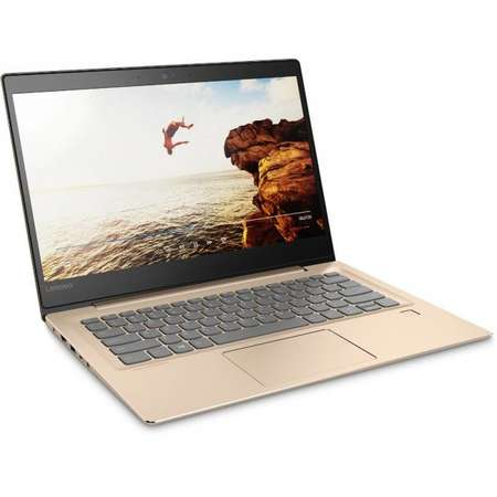 Laptop Lenovo IdeaPad 520S-14IKB 14 inch Full HD Intel Core i7-7500U 8GB DDR4 1TB HDD 128GB SSD Champagne Gold