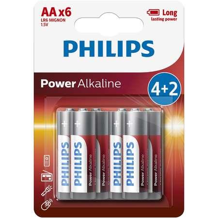 Baterii Philips Power Alkaline AA 4+2 blister PROMO