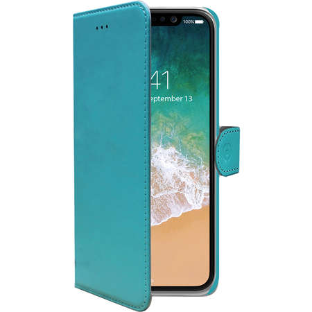 Husa Flip Cover Celly WALLY900TF Agenda Verde pentru APPLE iPhone X