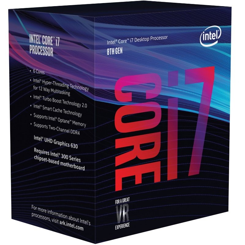 Procesor Core i7-8700K Hexa Core 3.7 GHz Socket 1151 BOX thumbnail