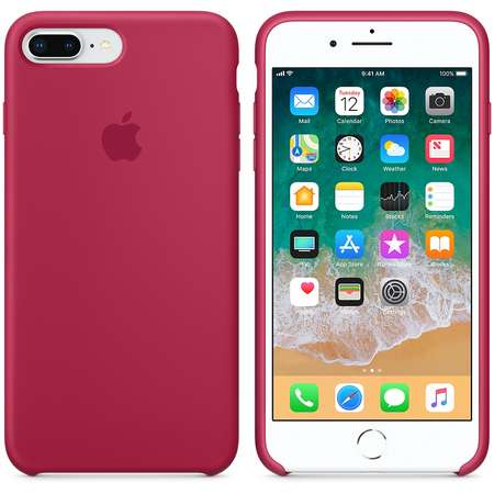 Husa Protectie Spate Apple iPhone 8 Plus Silicone Case Rose Red
