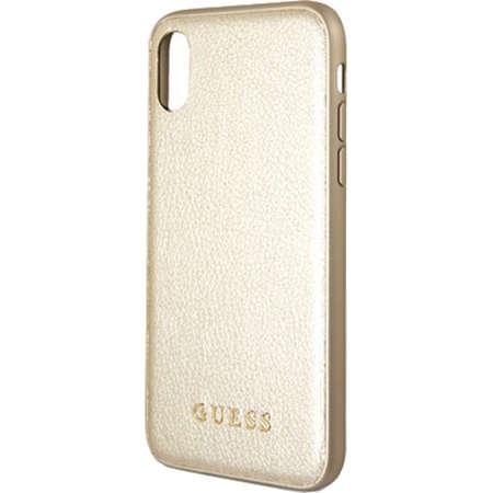 Husa Protectie Spate Guess GUHCPXIGLGO Iridescent Piele Auriu pentru APPLE iPhone X