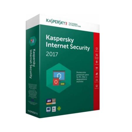 Licenta antivirus Kaspersky Internet Security 2017 1 an plus 3 luni gratuite 3 PC Licenta Noua Retail