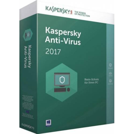 Licenta antivirus Kaspersky Anti-Virus 1 an plus 3 luni gratuite 1 PC Licenta noua Retail