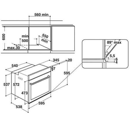 Cuptor incorporabil Hotpoint Ariston FI4 854 P IX A+ 73l inox