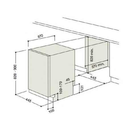 Masina de spalat vase incorporabila Hotpoint Ariston LSTB 4B00 A 10 seturi 4 programe alba