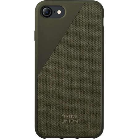 Husa Protectie Spate Native Union CCAV-OLI-CV-7 Canvas Verde pentru Apple iPhone 7