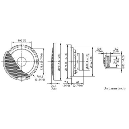 Boxe Auto Kenwood XR-1800P 110W RMS 17 cm