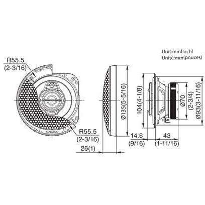 Boxe Auto Kenwood KFC-PS1095 40W RMS 10 cm