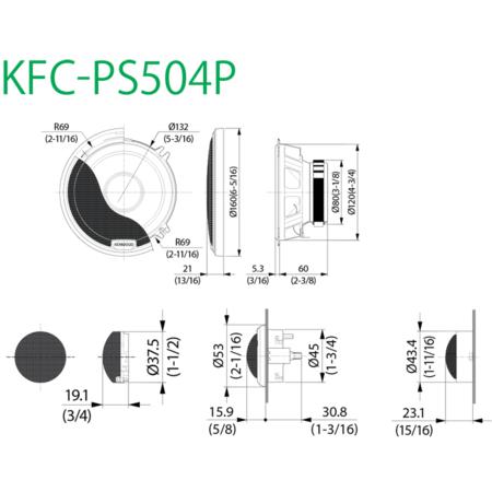 Boxe Auto Kenwood KFC-PS504P 45W RMS 13 cm