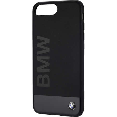 Husa Protectie Spate Bmw BMHCP7LSGLALBK Geniune Piele Negru pentru Apple iPhone 7 Plus, iPhone 8 Plus