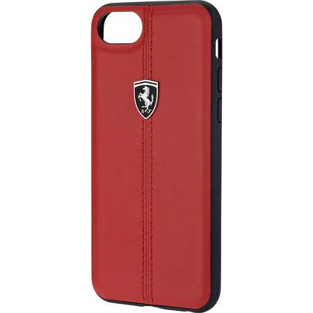 Husa Protectie Spate Ferrari FEHDEHCP7RE Heritage Rosu pentru Apple iPhone 7, iPhone 8