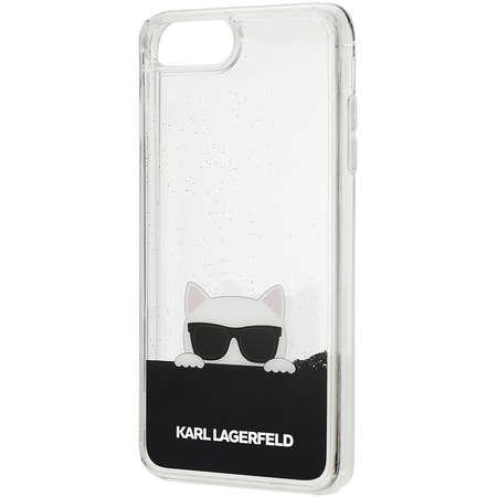 Husa Protectie Spate Karl Lagerfeld KLHCP7LCHPEEBK Choupette Sunglass Negru pentru Apple iPhone 7 Plus, iPhone 8 Plus