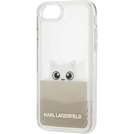 Husa Protectie Spate Karl Lagerfeld KLHCP7PABGNU Peek A Boo Auriu pentru Apple iPhone 7, iPhone 8