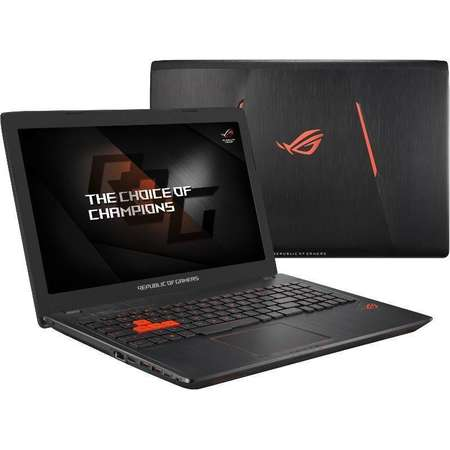 Laptop Asus ROG GL553VE-FY037 15.6 inch FHD Intel Core i7-7700HQ 8GB DDR4 1TB HDD 128GB SSD nVidia GeForce GTX 1050 Ti 4GB Endless OS Black
