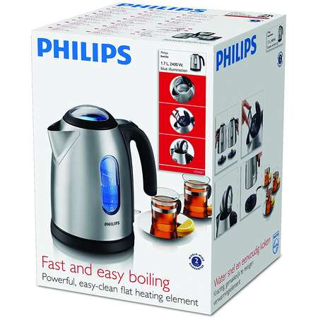 Ceainic Electric Philips HD 4667/20 1.7 Litri 2400W Inox