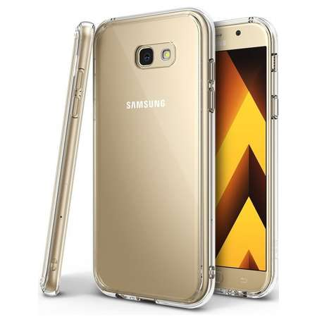 Husa Samsung Galaxy A7 2017 Ringke FUSION CLEAR Ringke + BONUS folie protectie display