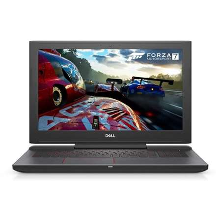 Laptop Dell Inspiron 7577 15.6 inch FHD Intel Core i7-7700HQ 8GB 1TB HDD 128GB SSD nVidia GeForce GTX 1050 Ti 4GB FPR Linux Black