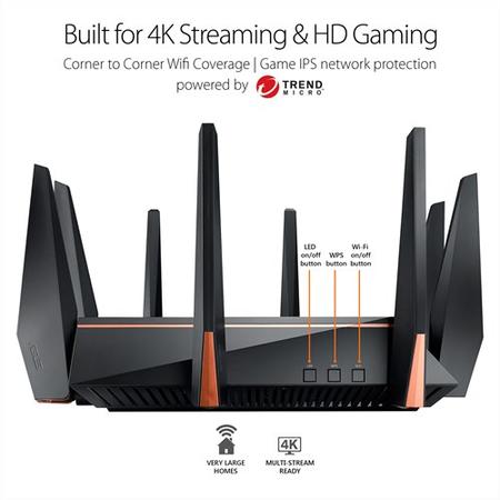 Router wireless Asus ROG Rapture GT-AC5300 Gigabit Tri-Band Black