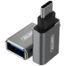 Y-A025CGY USB type-C Male - USB 3.0 Female argintiu