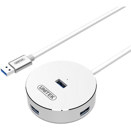 Hub USB Y-3197 4x USB 3.0 argintiu