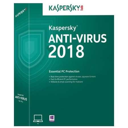 Kaspersky Antivirus 2018 New License Retail 1 an 1 PC