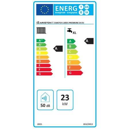 Centrala termica Ariston CARES PREMIUM 24 EU Gaz Tiraj fortat 24 kW Doua schimbatoare de caldura