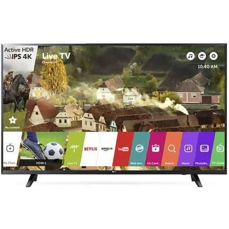 Televizor LG LED Smart TV 55 UJ620V 139cm 4K Ultra HD Black