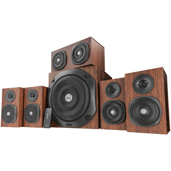 Boxe Vigor 5.1 Surround 75w Rms Brown