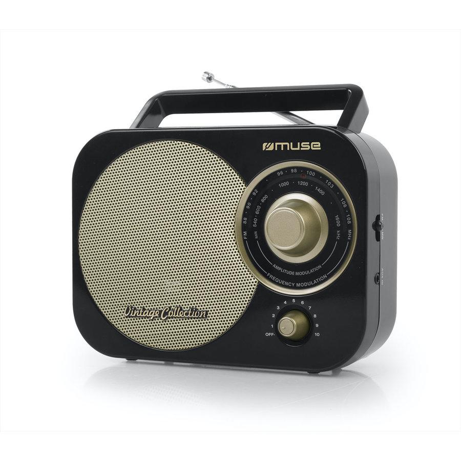 Radio portabil M-055 RB Vintage Black