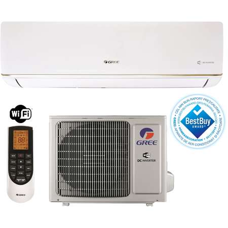 Aparat aer conditionat Gree BORA GWH18AAD-K3DNA5E 18000BTU Inverter Wi-Fi Incorporat Clasa A++/A+ Alb