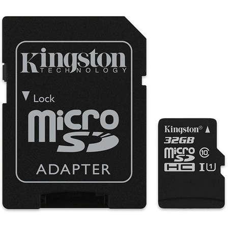 Card de memorie Kingston microSDHC Canvas Select 80R 32GB Clasa 10 UHS-I U1 80 Mbs cu adaptor SD