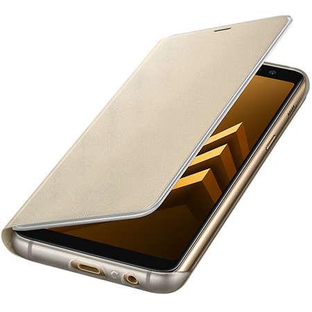 Husa Flip Cover EF-FA530PFEGWW Agenda Neon Flip Auriu pentru SAMSUNG Galaxy A8 (2018)