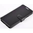Book Leather Black pentru Sony Xperia M4 Aqua