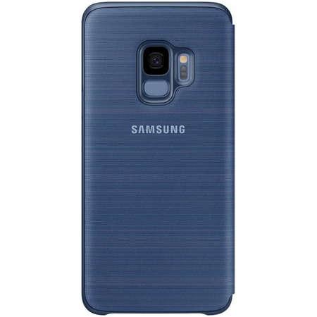 Husa Flip Cover Samsung EF-NG960PLEGWW Book LED View Blue pentru Galaxy S9