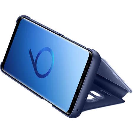 Husa Flip Cover Samsung EF-ZG960CLEGWW Book Clear View Blue pentru G960 Galaxy S9