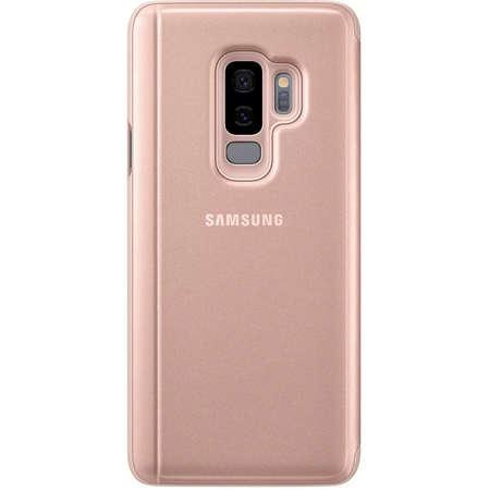 Husa Flip Cover Samsung EF-ZG965CFEGWW Book Clear View Gold pentru Galaxy S9 Plus