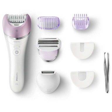 Epilator umed si uscat Philips BRE631/00 Satinelle Advanced 7 accesorii