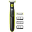 Aparat hibrid de barbierit si tuns Philips QP2520/30 OneBlade 3 piepteni Acumulatori Negru/Verde