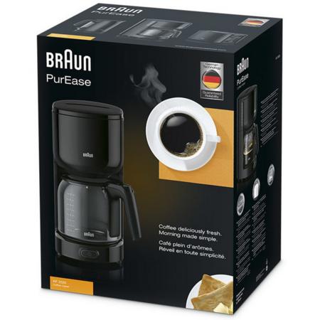 Cafetiera Braun KF3120BK PurEase 1000W 1.25 litri Negru