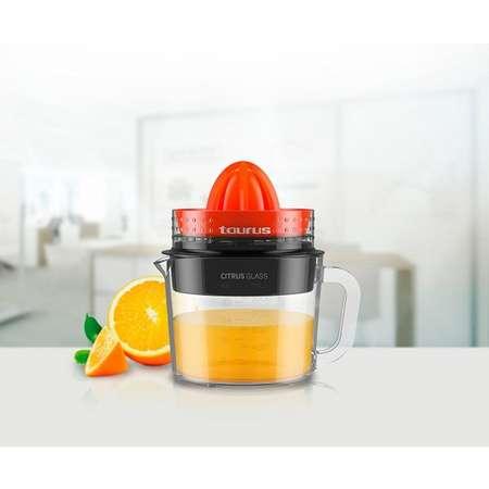 Storcator de citrice Taurus Citrus Glass 30W 1 litru Rosu / Negru