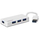 TU3-H4E 4x USB 3.0 Mini Hub Alb