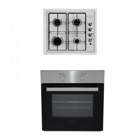 Pachet Studio Casa Mirage plita gaz PG 60 Inox + cuptor electric FE606 X
