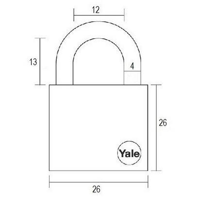 Lacat de alama Yale Y110/25/115/1 25 mm