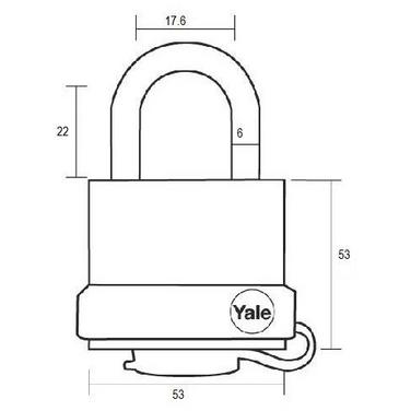 Lacat rezistent la umiditate Yale Y220/51/118/1 51 mm