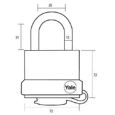 Lacat rezistent la umiditate Yale Y220/71/130/1 71 mm
